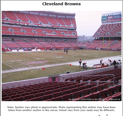 2 CLEVELAND BROWNS LOWER BOWL,BROWNS SIDELINE,2017 SEASON TICKETS,SEC 130,ROW 16