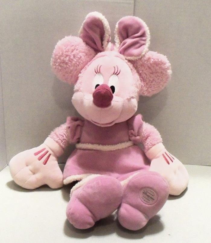 MINNIE MOUSE PINK Disney Store Exclusive 18 inch Stuffed Animal Plush Toy RARE