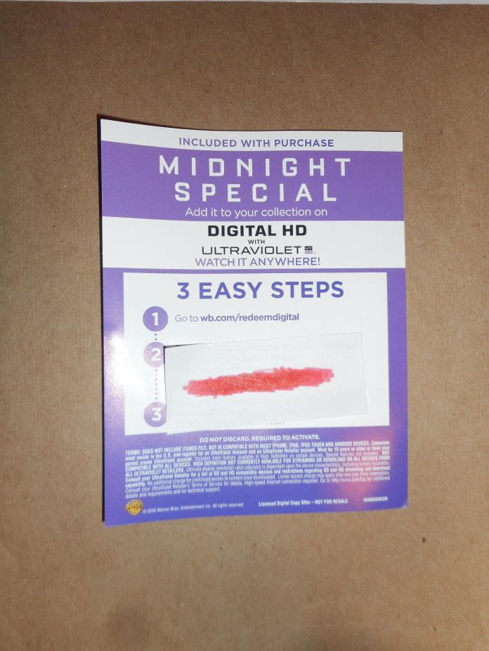 Midnight Special (2016) HD Digital Code
