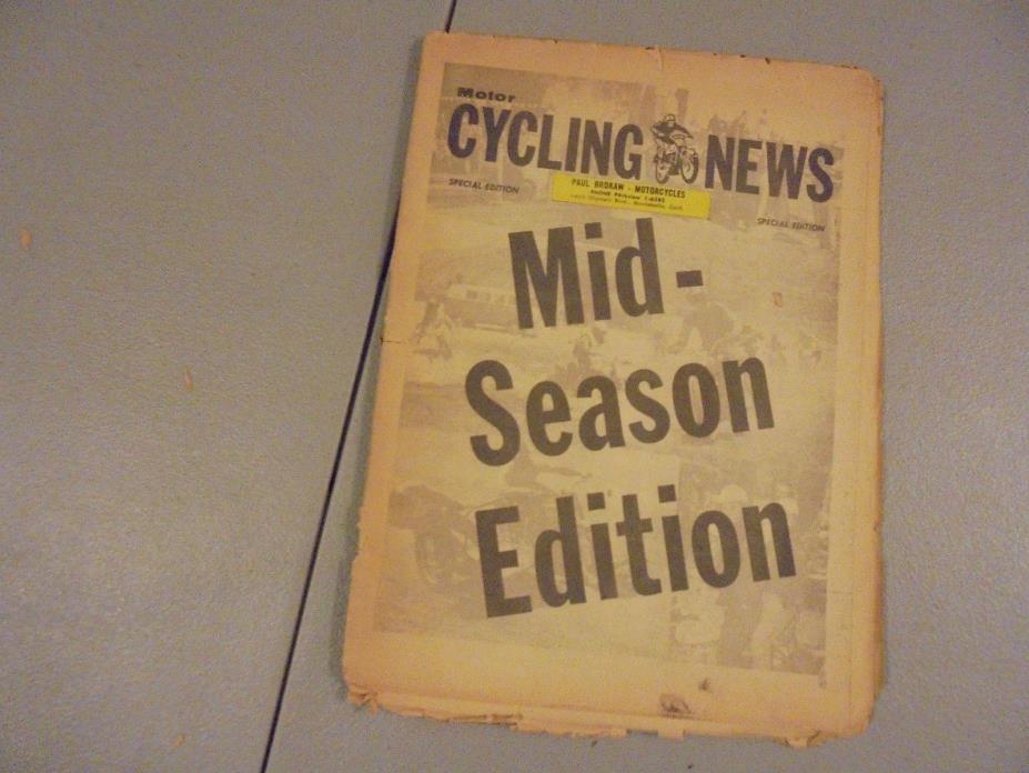 1960 MOTORCYCLING NEWS NEWSPAPER SPECIAL EDITION MID SEASON EDITION,HARLEY,BSA,