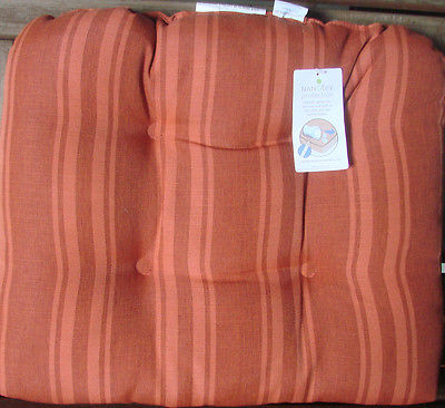 Threshold Tufted Orange Stripe PILLOW--NWT