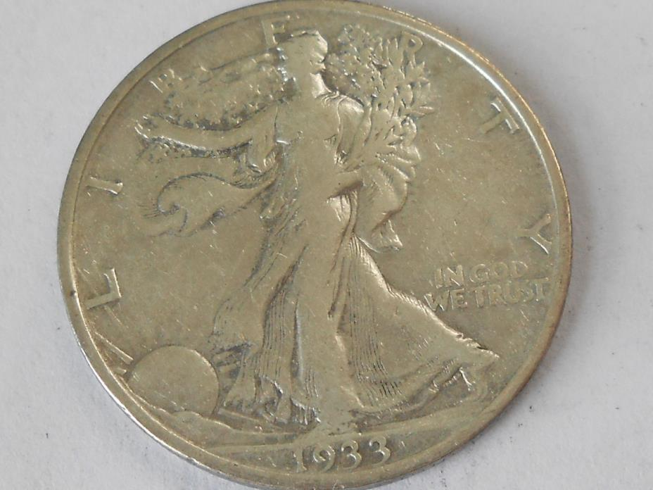 1933S VF Walking Liberty Half Dollar Ref#4