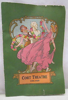 1906 Cort Theatre Chicago Program Clyde W Riley Kelly Springfield Tires Antique