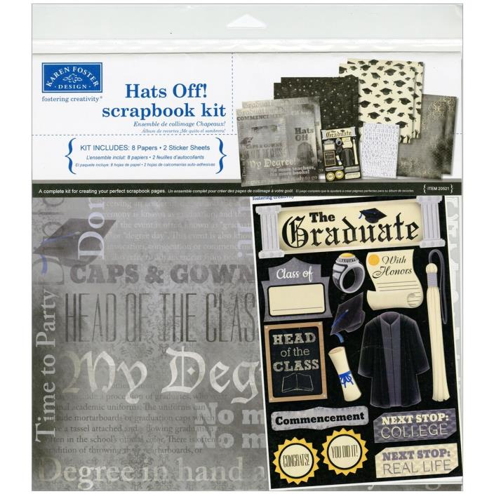Karen Foster Hats Off! Graduation Scrapbook Page Kit