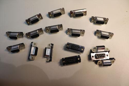 16x 9 Pin Female Serial Port Soldering Plug Connector RS232 DB9 Repair