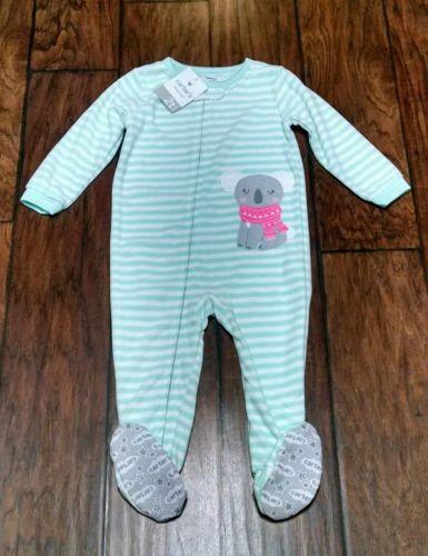 Carter's NWT 2T Girls FLEECE PJ Footed Pajama Blanket Sleeper Winter