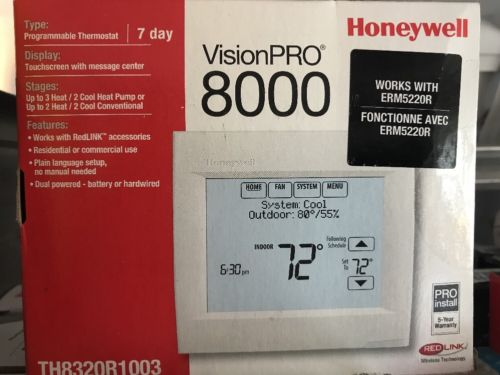 Honeywell VisionPro 8000 Touchscreen  TH8320R1003