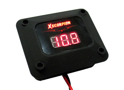 Digital Voltage Volt Meter 12V Red LED Motorcycle Car Power Wiring Amp Install