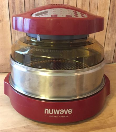 NuWave Pro Plus Oven Convection Roaster -Red with Amber Dome
