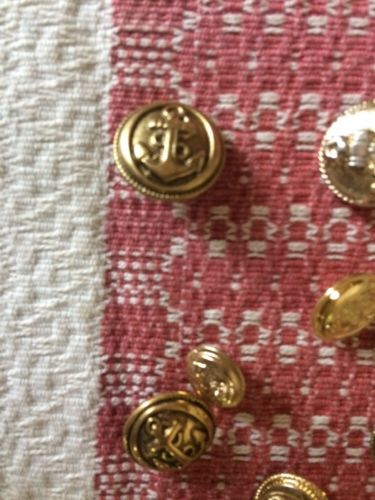 Swedish Vintage Button Collection Assorted Nautical Buttons