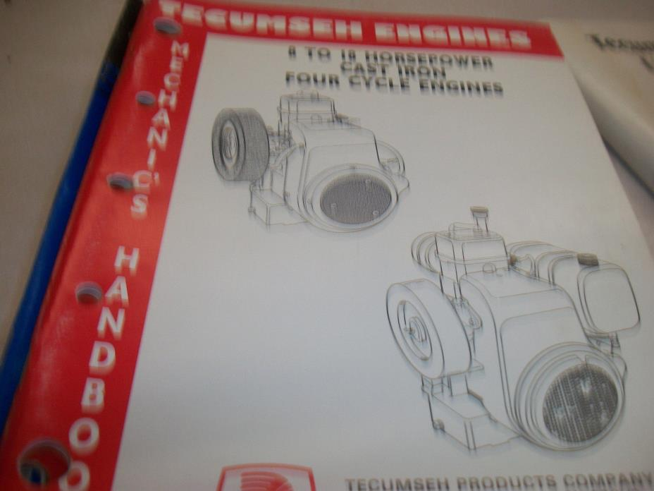 TECUMSEH REPAIR BOOK 8 TO 18 HORSEPOWER CAST IRON FOUR CYCLE ENGINES