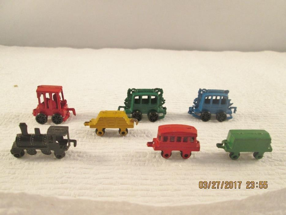Vintage Miniature Metal Toy Train