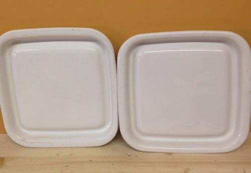 (2) Corning Ware MW-2 Microwave Browner Grill Browning With Drip Edge 12