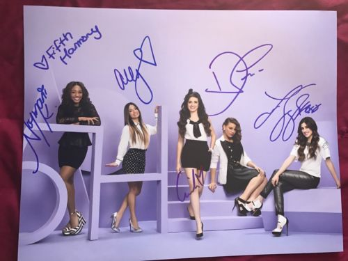Fifth Harmony Signed 11x14 Photo In Person Autograph Camila Dinah Lauren Ally No