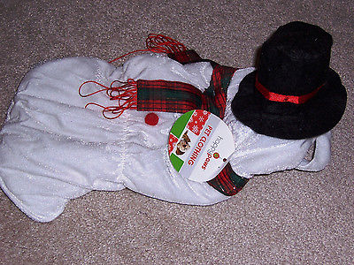 Darling Snowman dog coat w/ attached hat, Small, NWT, Christmas