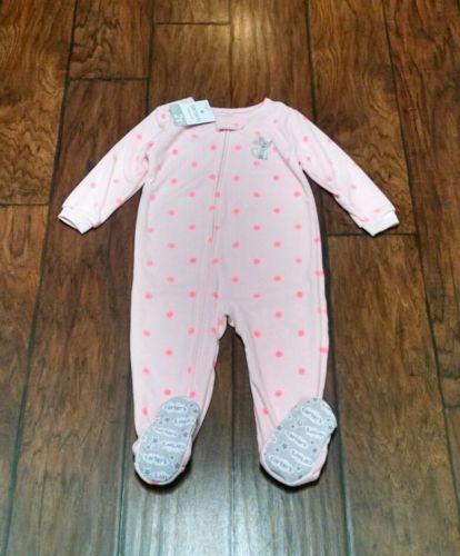 Carter's NWT 2T Girl FLEECE PJ Footed Pajama Blanket Sleeper Winter