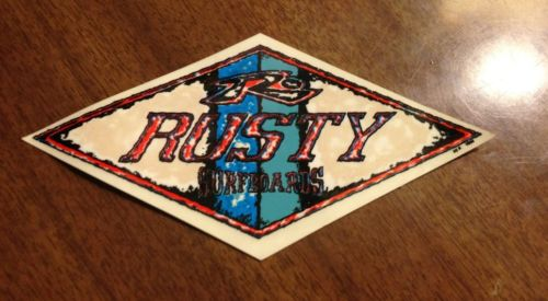 Vintage surfboard sticker Rusty clothes 90's NOS Canyon skateboard 80's