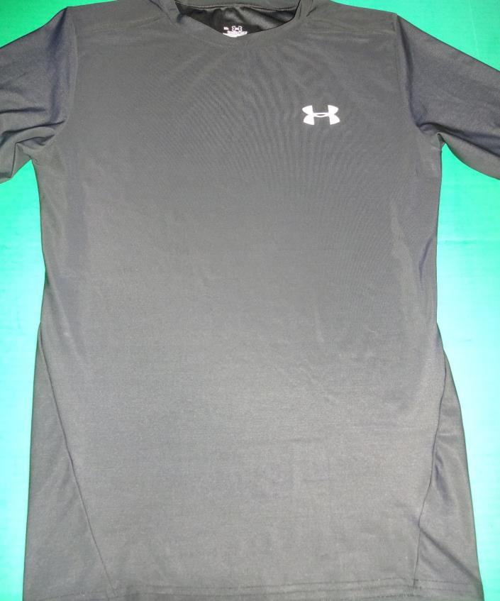 UNDER ARMOUR BLACK SS COMPRESSION TEE MEN'S SIZE XL