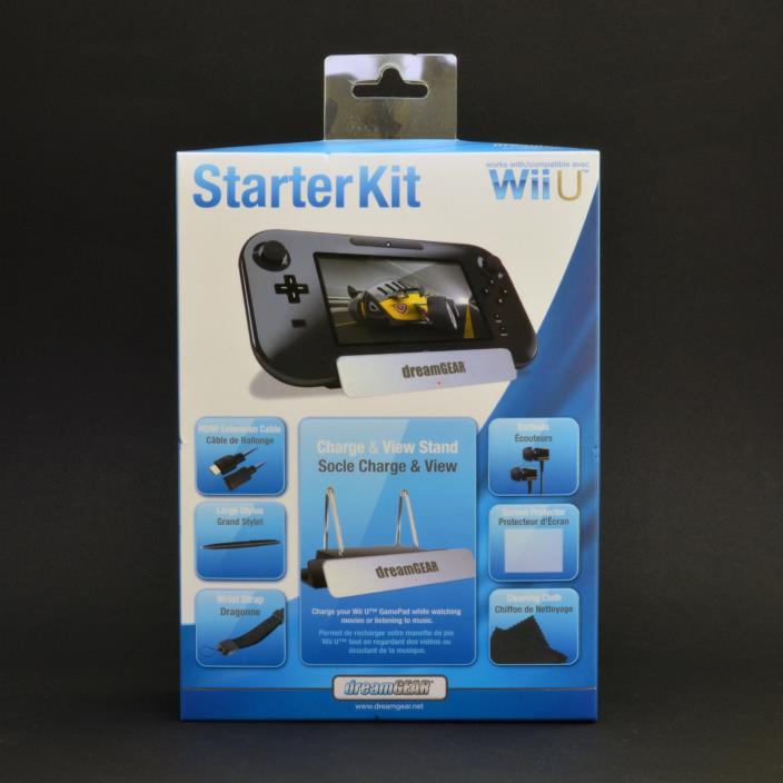 dreamGEAR Wii U 7-in-1 Starter Kit - New in Retail Box
