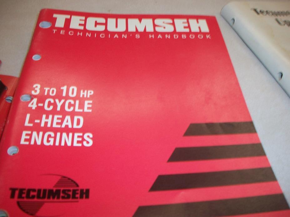 TECUMSEH ENGINE  REPAIR BOOK 3 TO 10 HP 4 CYCLE L HEAD ENGINE 740049