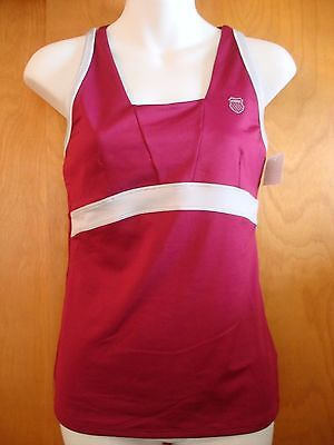 Maroon Red & Gray Tennis Tank Top K-Swiss New with Tags - Size Small