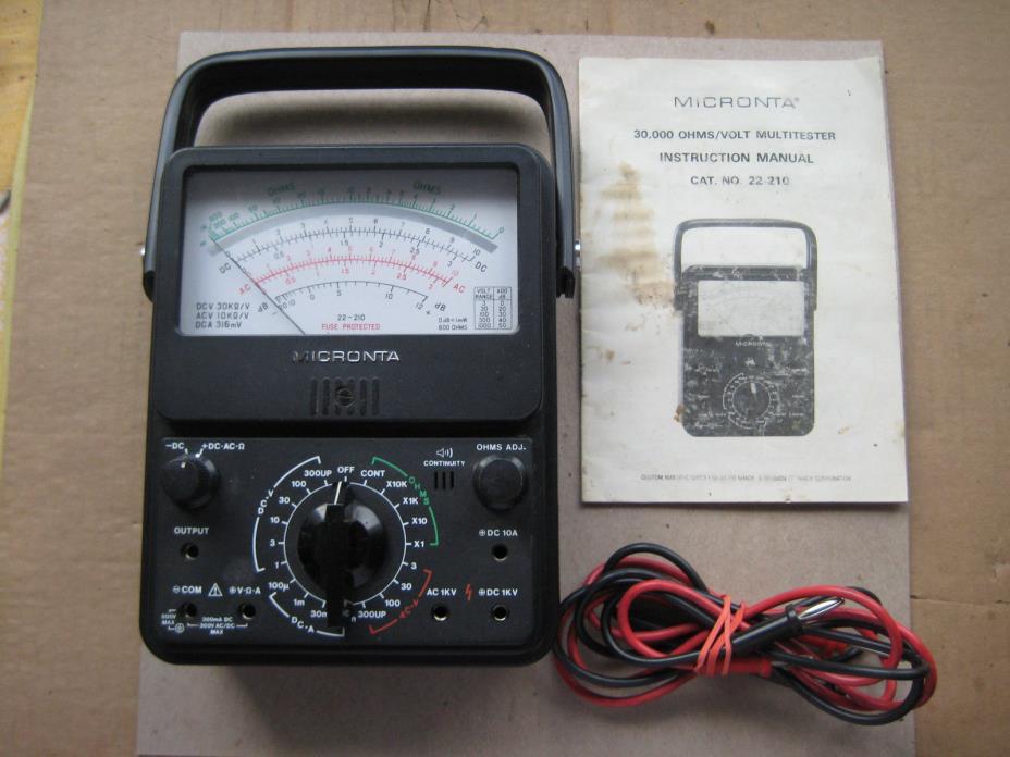 Radio Shack Multimeter : Multimeter radio shack for sale classifieds