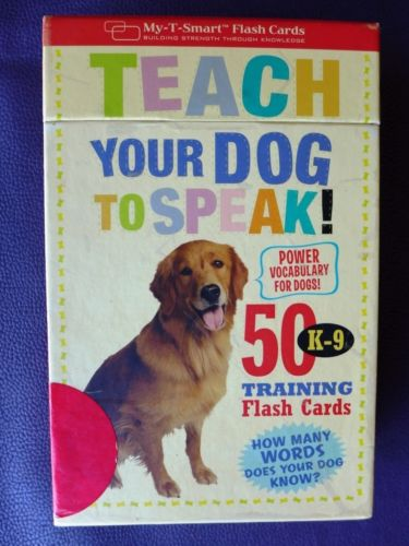 NEW Teach Your Dog To Speak! 50 K-9 Training Flash Cards Vocabulary Words