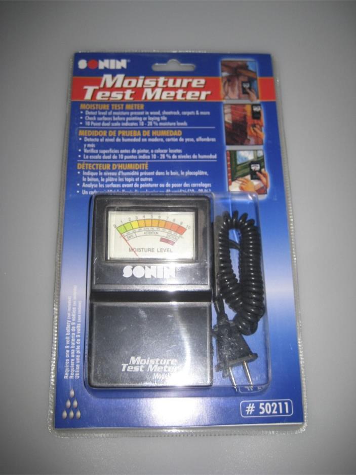 Sonin Moisture Test Meter # 50211 - Brand New!