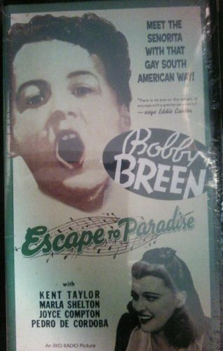 Escape To Paradise New VHS Bobby Green Kent Taylor