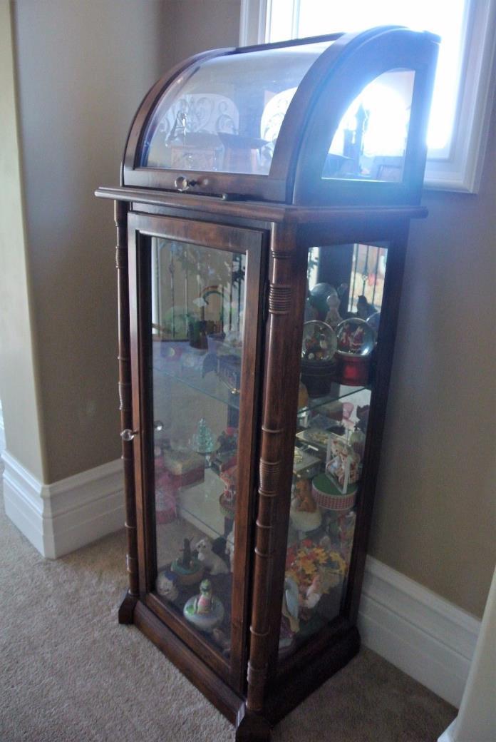 Unique Curved Glass Antique Curio
