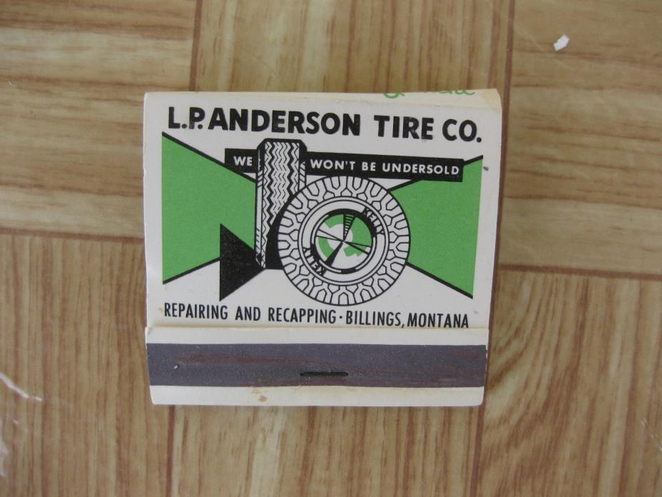 Vtg 1950s LP Anderson Tire Co Advertising Matchbook Playing Card Lucky Matches