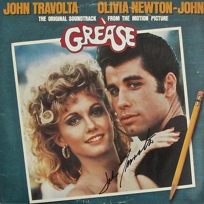 JOHN TRAVOLTA SIGNED AUTOGRAPH POSTER & RECORD SET LP ALBUM -FEVER