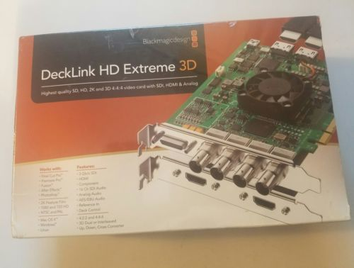 Blackmagic Design DeckLink HD Extreme 3D - Brand NEW and Sealed!