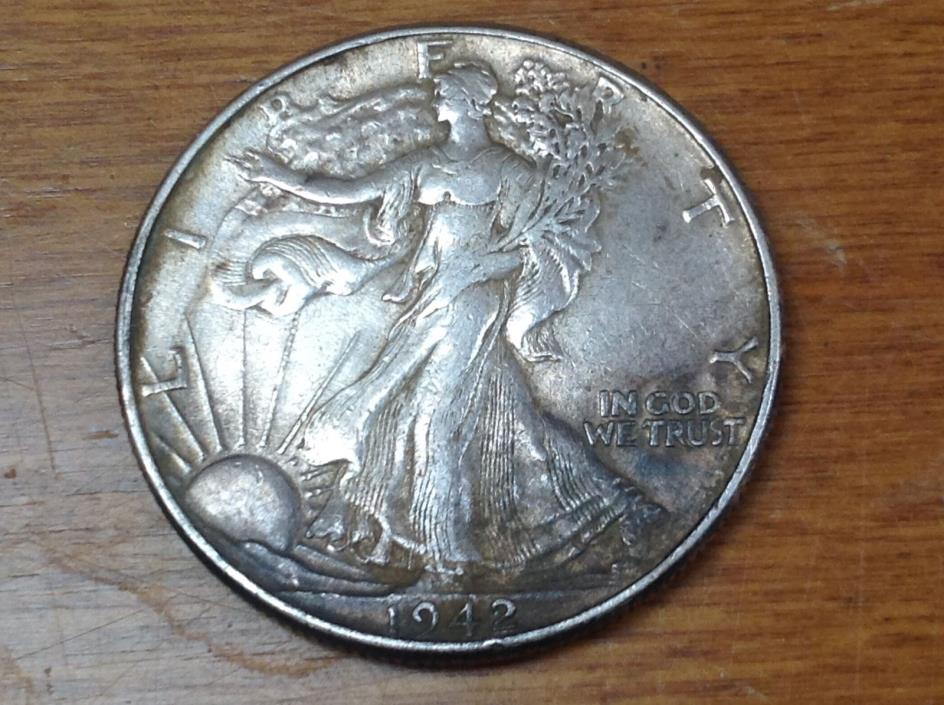 Walking Liberty Silver Half Dollar. 1942 P