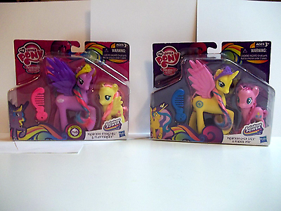 MLP Rainbow Power 2 Pack Princesses GoldLily Sterling,Fluttershy & PinkiePie NIP