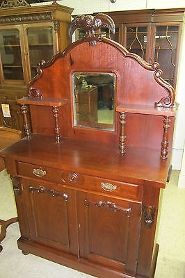 Antique Walnut Display Cabinet  1900-1950