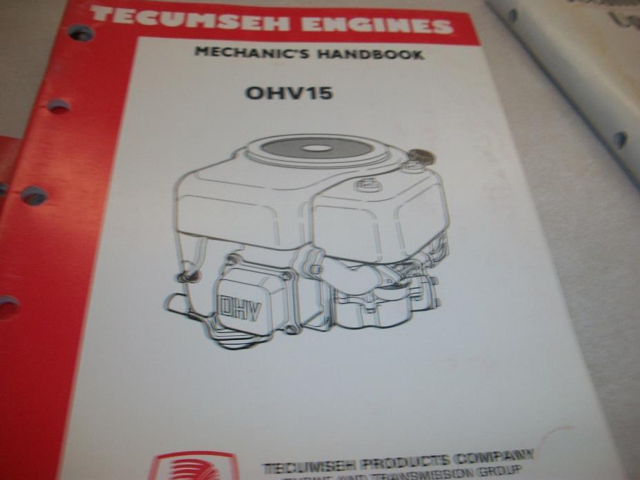 TECUMSEH ENGINE  REPAIR BOOK OHV15 695795