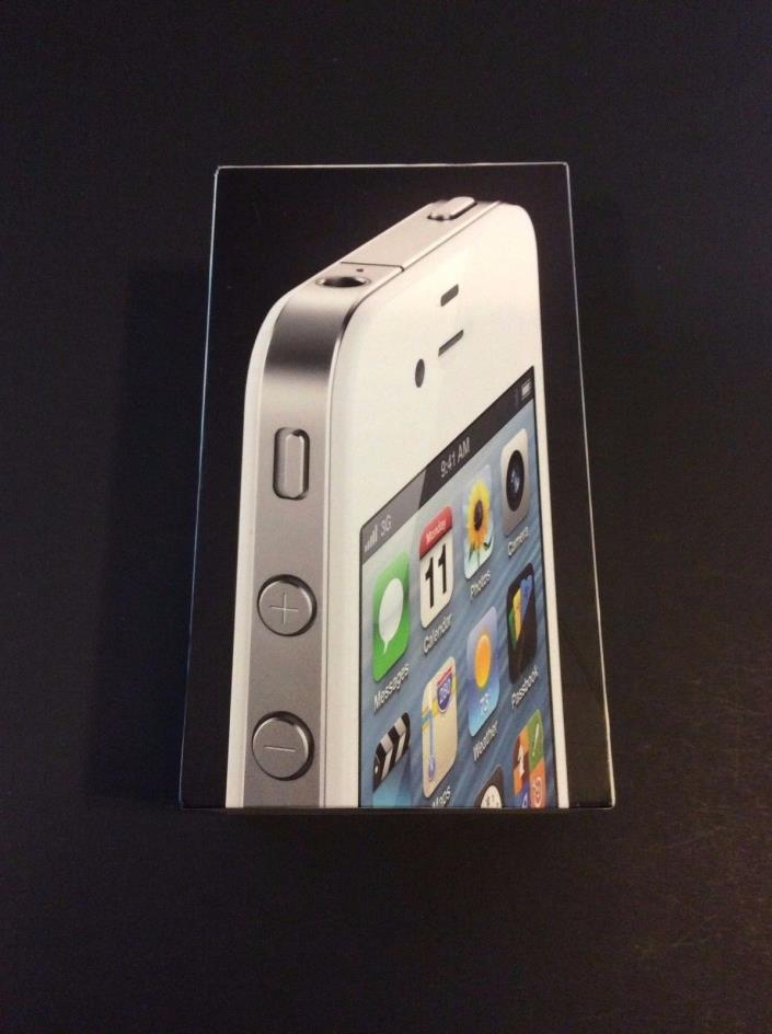Apple iPhone 4 White 8GB Box Only 2012