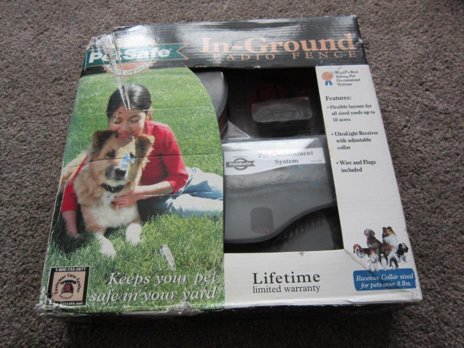NIB PetSafe Premium In-Ground Radio Fence PRF-3004W/ Dogs Over 8lbs Ships FREE