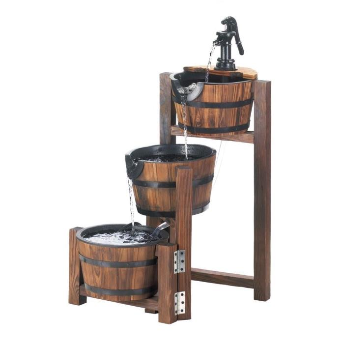 Appel Barrel Cascading Fountain