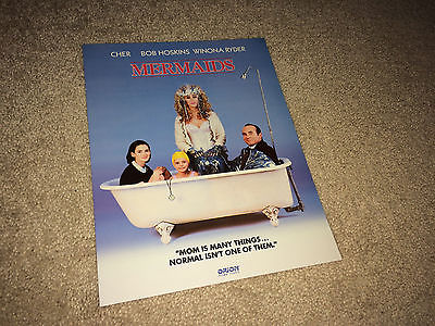 MERMAIDS Movie Promo Brochure Press Kit 1990 Cher Winona Ryder Comedy Hoskins