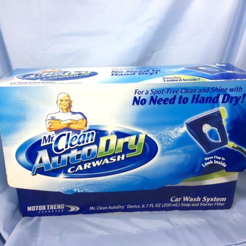 Mr. Clean AutoDry Car Wash System Starter Kit Device Soap Starter Filter