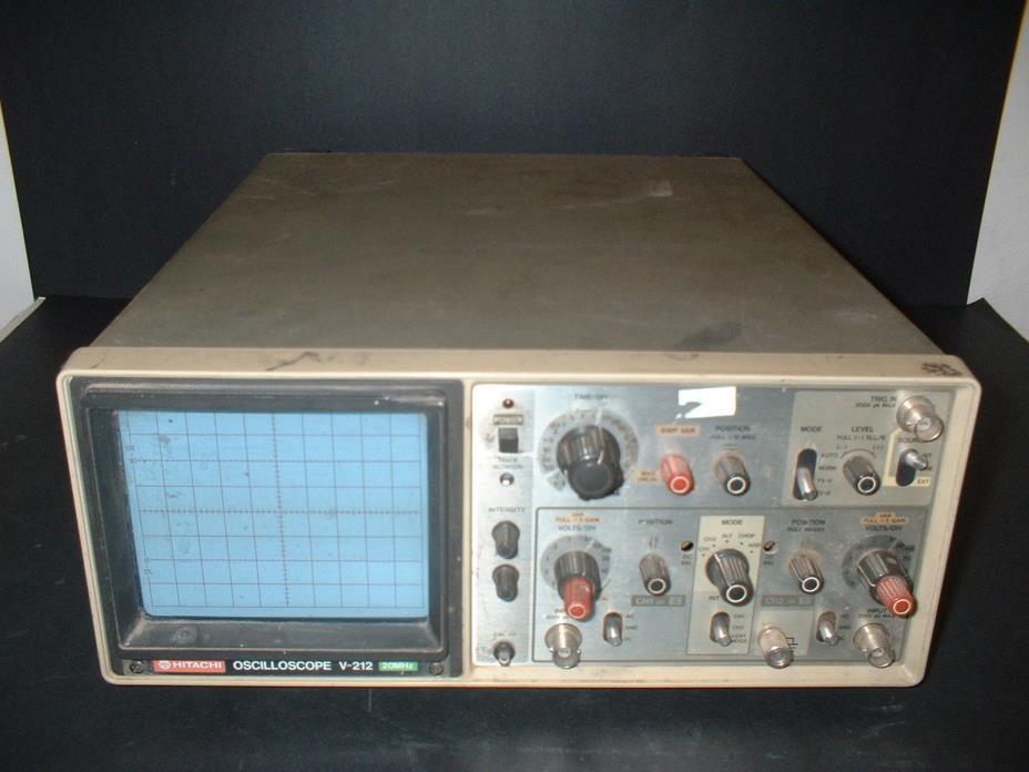 Hitachi V-212 20MHz Oscilloscope Scope