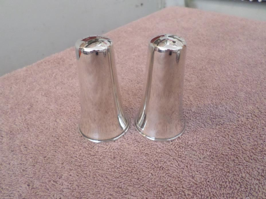 Newport Salt and Pepper Shakers Silver Plate