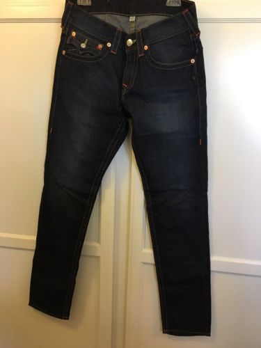 True Religion Jeans Men's Skinny Lone star Old Multi W/flaps Size 30