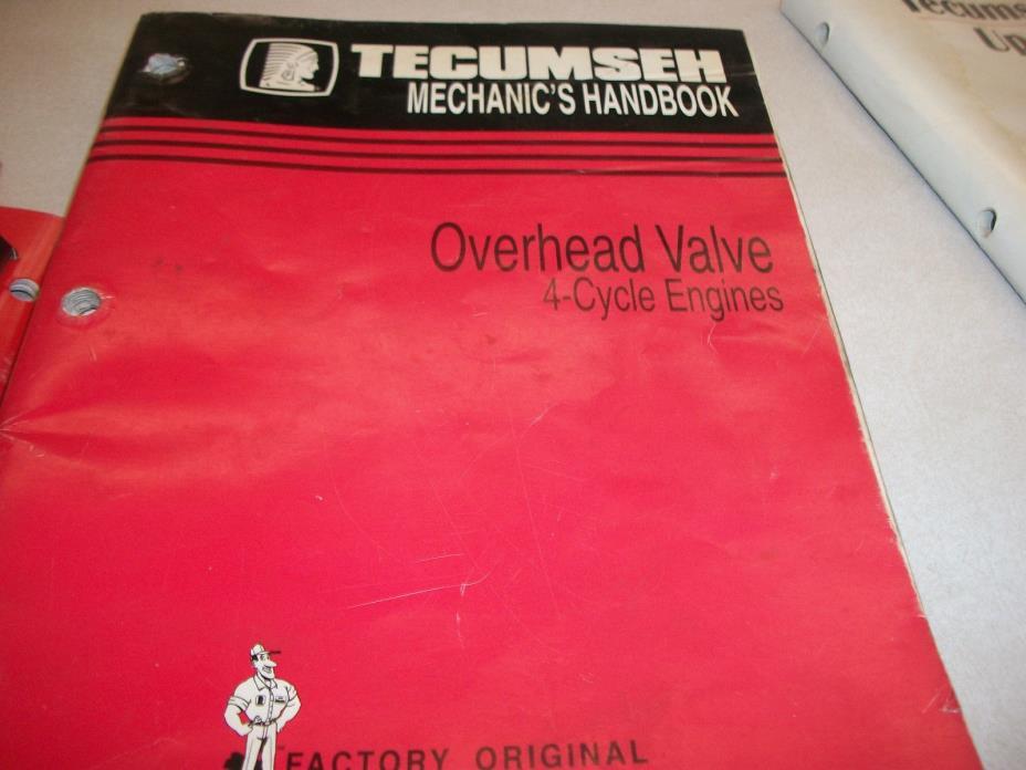 TECUMSEH ENGINE  REPAIR BOOK OVERHEAD VALCVE 4 CYCLE ENGINES 740043