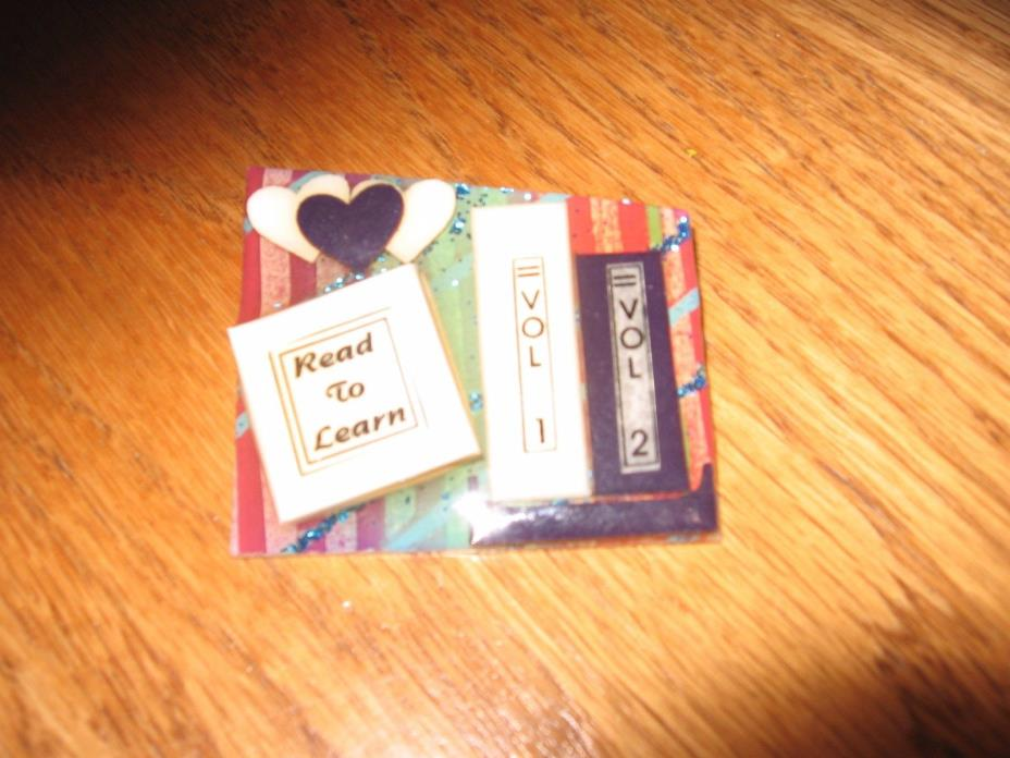 Book Pin handcrafted by Lucinda