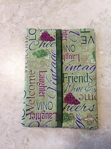 Purse or Pocket Kleenex Tissue Holder, Wine Theme Handmade, Wine Lover Gift