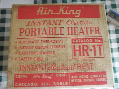 Vintage  Space Heater AIR KING HR1T  used in original box