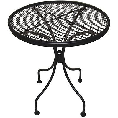 Patio Wrought Iron Side End Table Black Stand Outdoor Furniture Place Sitting